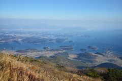 Prospect of Namhae Sea, Sacheon and Hadong Royalty Free Stock Photography
