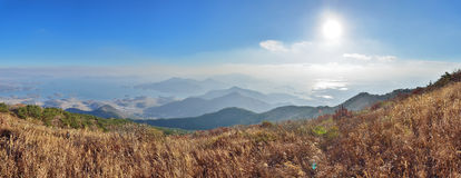 Prospect of Namhae Sea, Sacheon and Hadong Royalty Free Stock Photo