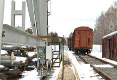 Prospect of old rail cars Stock Photography