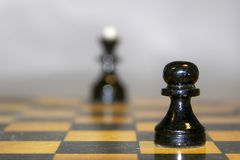 Prospect for pawn. Chess on the chessboard Stock Photo