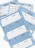 Prospect Sheets Contact Logs and Follow up Blank Pages Royalty Free Stock Photos