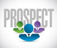 Prospect team sign illustration design graphic Stock Image