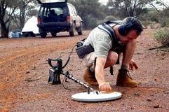 Prospection do rolamento do ouro no arbusto australiano Foto de Stock Royalty Free