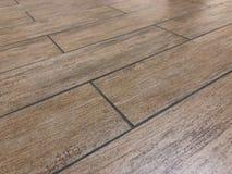 Prospective shot of the newly installed modern tile floor stock image