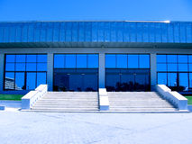 Prospective view to new modern building Royalty Free Stock Image