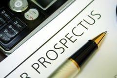 Prospecto Imagen de archivo libre de regalías