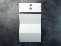 Prospecto en blanco y sobre blanco representación 3d stock de ilustración