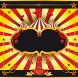 Prospecto rojo y amarillo del circo Imágenes de archivo libres de regalías