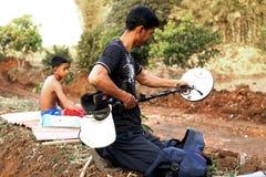 Prospector tailandés del oro Foto de archivo libre de regalías