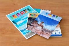 Prospectos de la información acerca de Eilat en Israel para los turistas imágenes de archivo libres de regalías