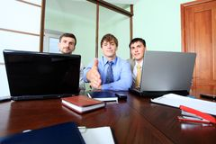 Prospects. Business theme: business team in a work process in office Stock Photos