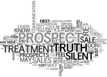 When Prospects Give You The Silent Treatment Word Cloud Stock Photography