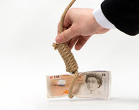 Prospects for the pound. As a symbol on a white background Royalty Free Stock Photos