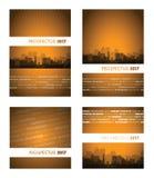 Prospectus 2017 oranje groep Stock Afbeelding