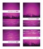 Prospectus 2017 purple group Stock Images