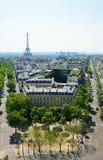 Prospectus in vicinity the Place de l'Etoile Stock Photo