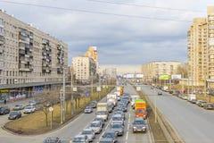 Prospekt Slavy, St Petersburg Imágenes de archivo libres de regalías