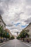 Prospektas di Gedimino a Vilnius, Lituania Fotografia Stock Libera da Diritti