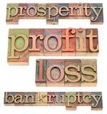 Prosperidad y bancarrota imágenes de archivo libres de regalías