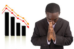 Prosperity Change Prayer. This is an image a businessman conducting a prayer for prosperity. This image can be used to represent Prosperity Change Prayer and royalty free stock photos