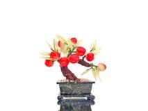 Prosperity Charm Cherry. Prosperity charm red cherry tomato tree handicraft royalty free stock photo