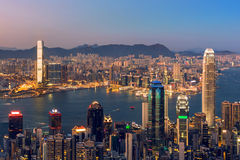 Prosperity City of Asia - Hong Kong Stock Image