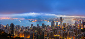 Prosperity City of Asia - Hong Kong. Photo token from Peak royalty free stock images