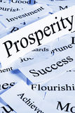 Prosperity Concept. A conceptual look at prosperity and associated concepts. Blue tone royalty free stock image