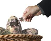 Prosperity eggs puzzle game Stock Image