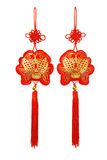 Prosperity fish ornaments. Chinese New Year prosperity fish ornaments on white background stock photo