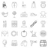 Prosperity icons set, outline style. Prosperity icons set. Outline set of 25 prosperity vector icons for web isolated on white background Royalty Free Stock Images