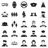 Prosperity icons set, simple style Royalty Free Stock Photos
