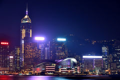 Prosperity night, Hongkong Victoria harbor, 2016. Night view and lightinging of Hongkong victoria harbor Stock Photos