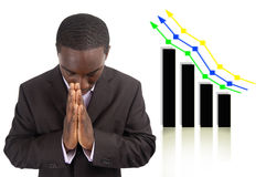 Prosperity Prayer. This is an image a businessman conducting a prayer for prosperity. This image can be used to represent Prosperity Prayer and Financial Success stock photo
