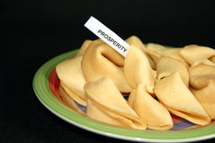 Fortune cookie with prediction Royalty Free Stock Image