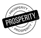 Prosperity rubber stamp Royalty Free Stock Photos