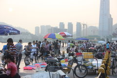 The prosperity of the seafood market in SHENZHEN,CHINA,ASIA Royalty Free Stock Images