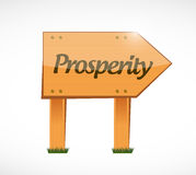 Prosperity wood sign illustration design Stock Photography