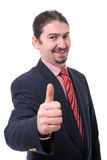 Prosperous Business man portrait Stock Photo