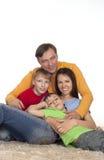 Prosperous family on a carpet Stock Photos