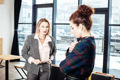 Free Prosperous Successful Businesswoman Firing Her Lazy Young Secretary Royalty Free Stock Images - 140971909