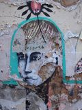 Prosperuje miastowa graffiti i ulicy sztuki scena w Lisbon, Portugalia, 2014 Fotografia Stock