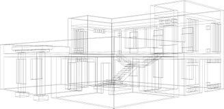 Prospettiva 11 della costruzione Immagini Stock