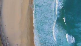 Prospettiva aerea del litorale della spiaggia di Bondi video d archivio