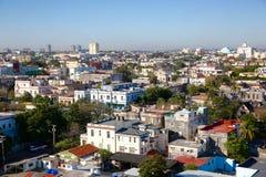 Prospettiva aerea di Avana, ` s di Cuba del centro Immagine Stock Libera da Diritti