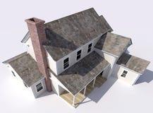 Prospettiva aerea di bella grande casa royalty illustrazione gratis