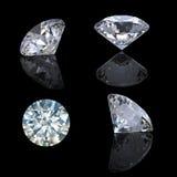 prospettiva brillante rotonda del diamante del taglio 3d Immagini Stock