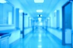Prospettiva in corridoio moderno del laboratorio di ricerca scientifica Immagini Stock Libere da Diritti