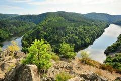 Prospettiva del fiume Fotografia Stock
