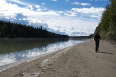 Prospettiva del fiume Fotografia Stock Libera da Diritti